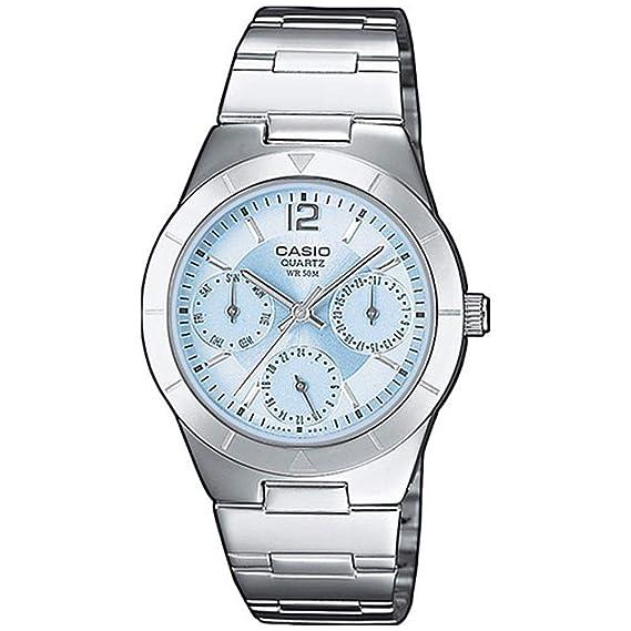 08c530fd761d Casio Reloj Multiesfera para Mujer de Cuarzo con Correa en Acero Inoxidable  LTP-2069D-2AVEF  Amazon.es  Relojes