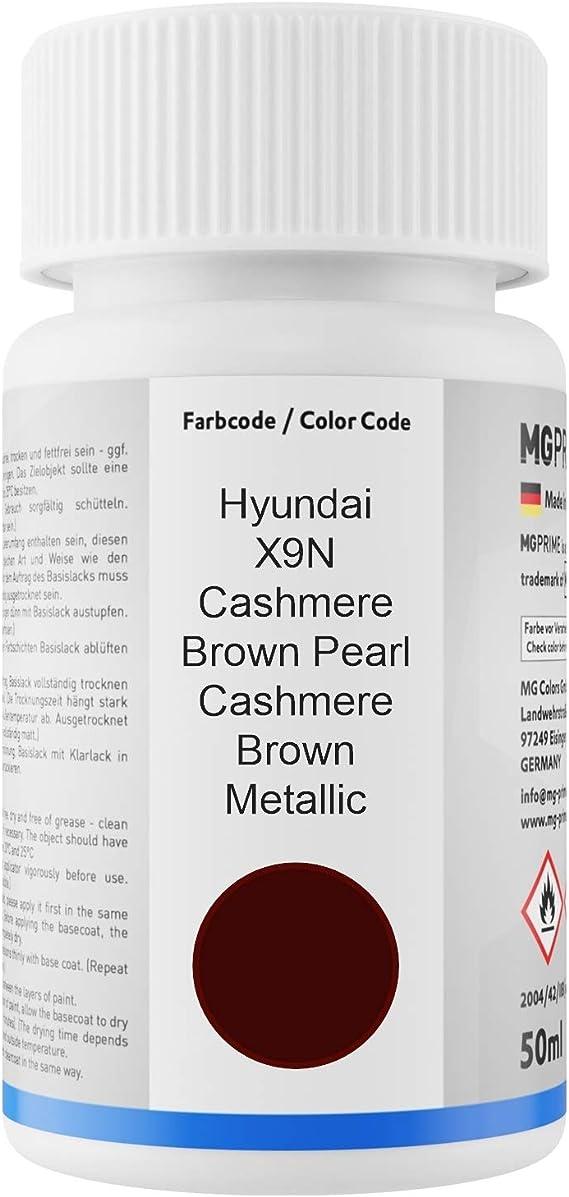 Mg Prime Autolack Lackstift Set Für Hyundai X9n Cashmere Brown Pearl Cashmere Brown Metallic Basislack Klarlack Je 50ml Auto