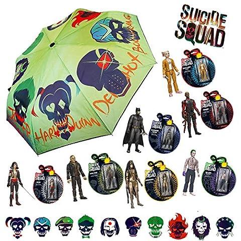 Funko Pop 8-Pack Bundle Suicide Squad Toys & Umbrella - Batman Deadshot Enchantress The Joker Katana Harley Quinn Killer (New Funko Pop Supernatural)