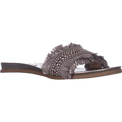 Vince Camuto Womens ETTINA Stylish Slides SANDAL METAL GREY 6 M US | Sandals