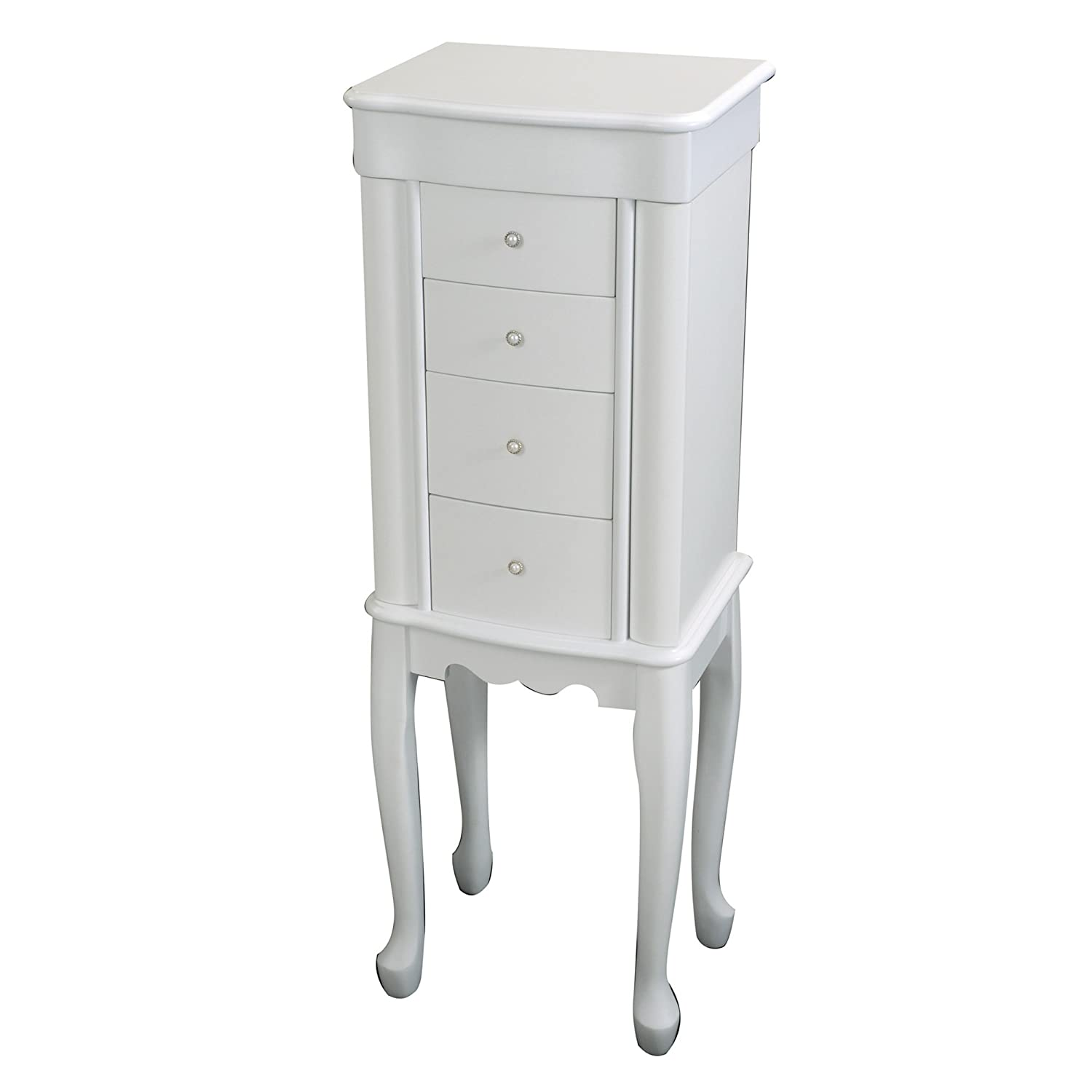 Amazoncom Mele Co Alexis Wooden Jewelry Armoire White Home