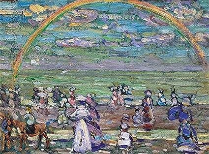 Cuadro Canvas Arco Iris de Maurice Brazil Prendergast: Amazon.es: Hogar