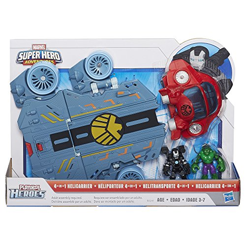 Playskool Heroes Marvel Super Hero Adventures Helicarrier Vehicle with War Machine Figure (Discontinued by manufacturer)
