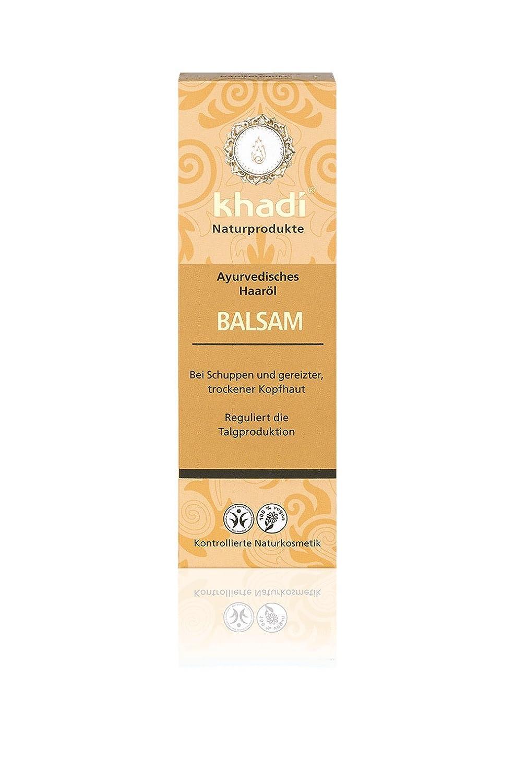 khadi Ayurvedisches Haar-Öl Balsam 100ml I natürliches Haarpflege-Produkt für gereizte Kopfhaut und Schuppen I Naturkosmetik 100% biologisch I Sesamöl, Senföl & Neem Senföl & Neem