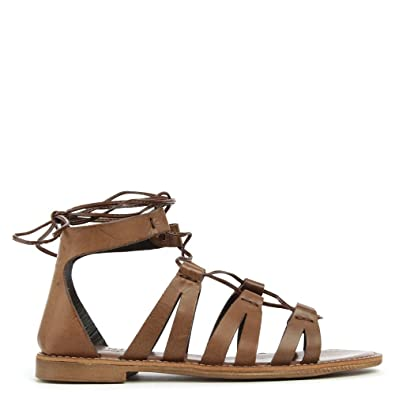 45ee94228154a Daniel Honey Brook Brown Leather Gladiator Sandal 41 Brown Leather ...