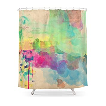 Society6 Watercolor Shower Curtain 71quot