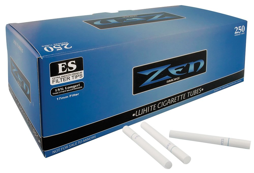 Zen Light King Size Cigarette Tubes (250 Ct) 1 Box