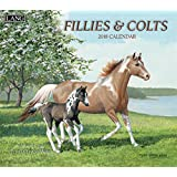 """Lang Wall Calendar """"Fillies & Colts"""" Artwork by Persis Clayton Weirs-12 Month-Open 13 3/8"""" X 24"""""""