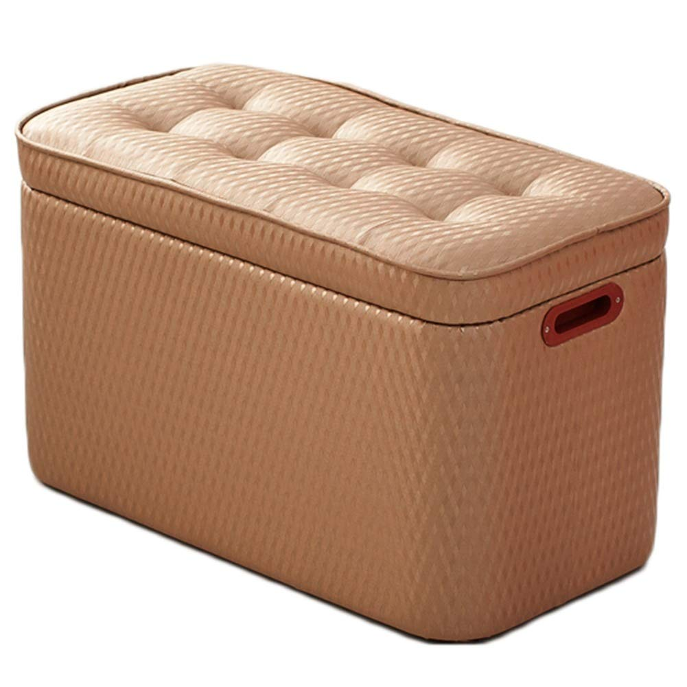 BROWN LANA Solid Wood Sofa Stool-Clothing Shop Rectangular shoes Bench shoescase Bed Storage Stool Storage Chair Adult Fitting Room Stool (color   Purple)