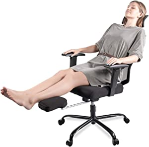Smugdesk Office Chair Adjustable Armrest/Headrest High Back Rotating Chair with Footrest Lounge Chair