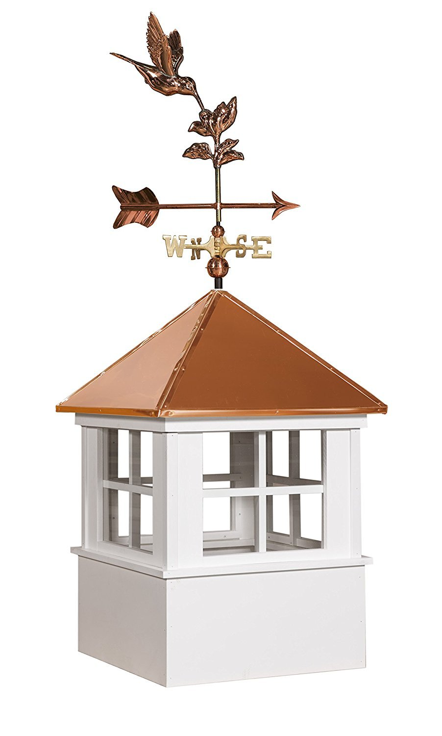 East Coast Weathervanes and Cupolas Vinyl Chester Cupola With Hummingbird Weathervane (vinyl, 25 in square x 61 in tall)