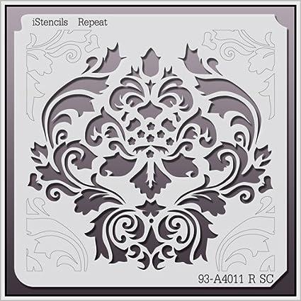 amazon com istencils repeat wall stencil 93 a4011 r 5 x 5