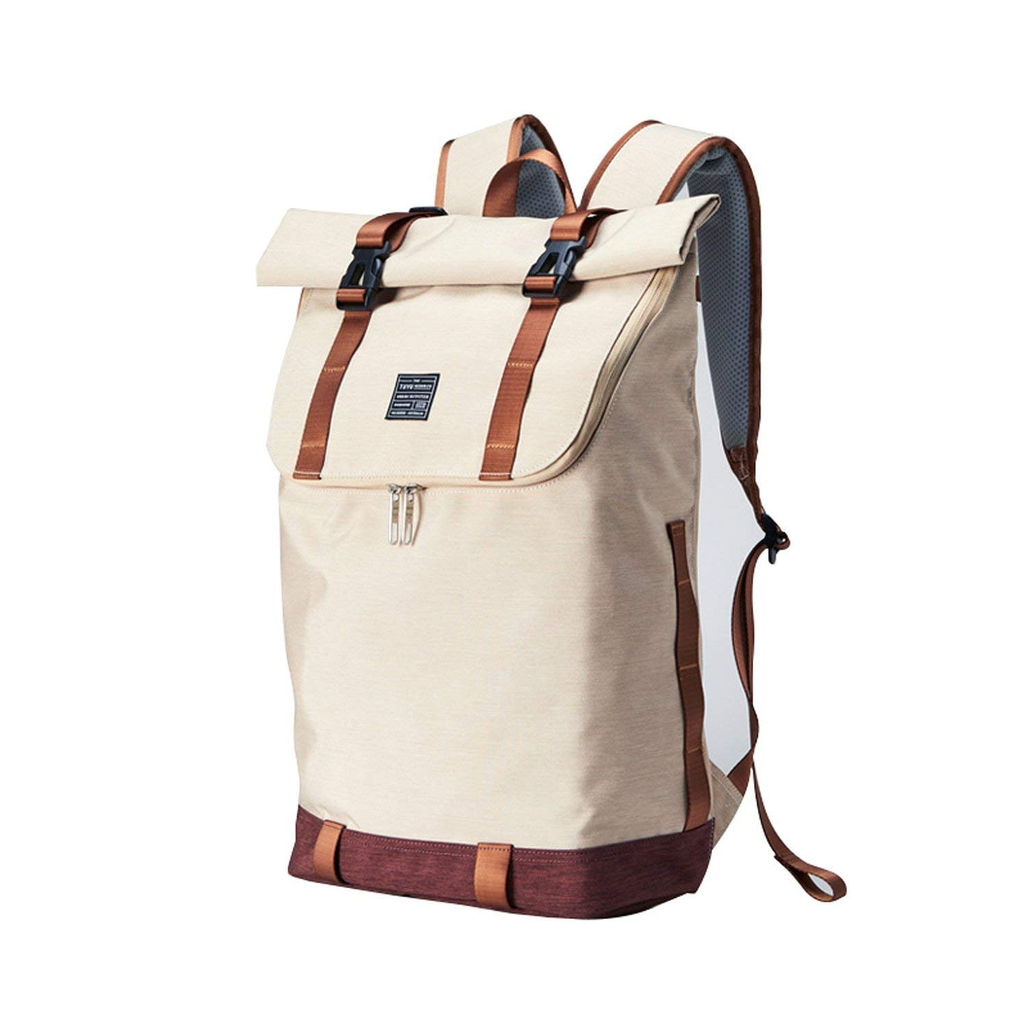 2019 unisex backpack teenager boys and girls vintage casual travel backpack large capacity canvas backpacks,brown,18.5inch