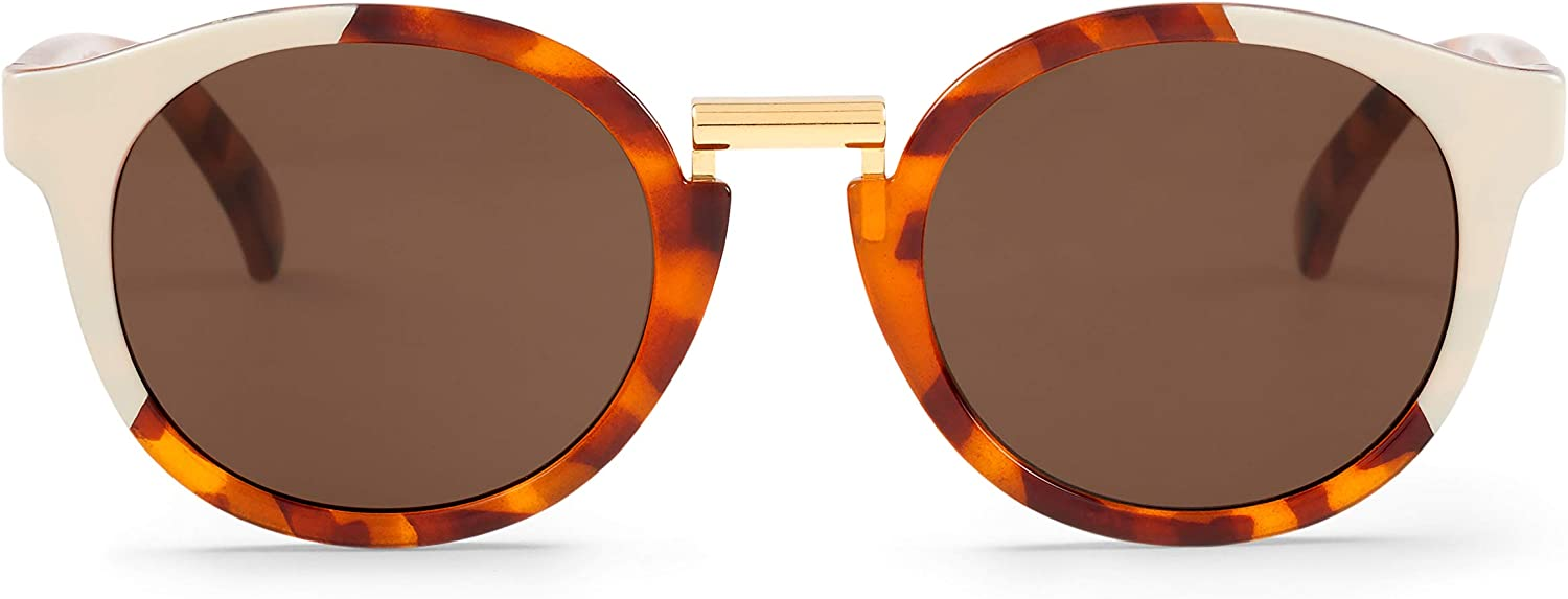 MR, Cream/leo tortoise fitzroy with classical lenses - Gafas De Sol unisex multicolor (carey), talla única