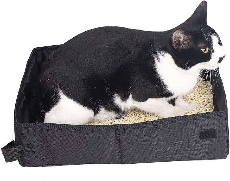 40 x 30 x 10 cm leggera impermeabile Minjie lettiera pieghevole per gatti 45 x 35 x 12,5 cm da viaggio portatile pieghevole