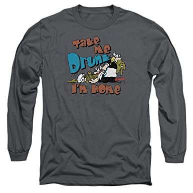f087adbad Hagar The Horrible Comic Strip Take Me Drunk I'm Home Adult Long Sleeve T