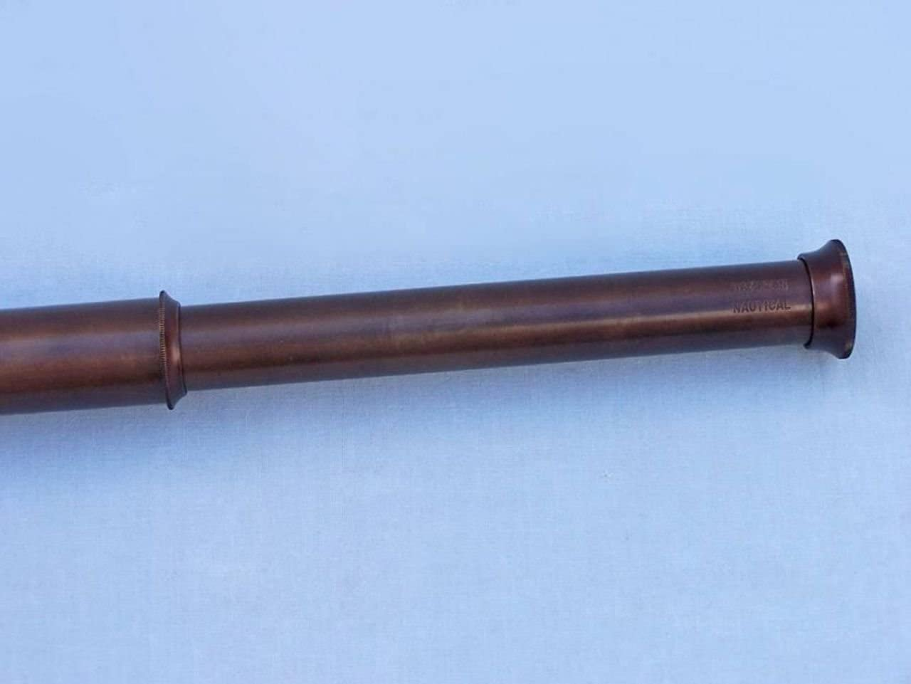Hampton Nautical  Deluxe Class Hampton Collection Brushed Nickel with Rosewood Box Spyglass Telescope 36