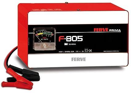 FERVE F-805 Cargador de Baterías de Plomo Ácido: Amazon.es: Coche ...