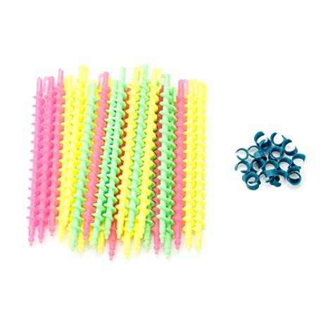 Ehoo 26 Pcs Plastic Spiral Hair Perm Rod Styling Barber Salon Tool Hairdressing Spiral Random Colors by Ehoo