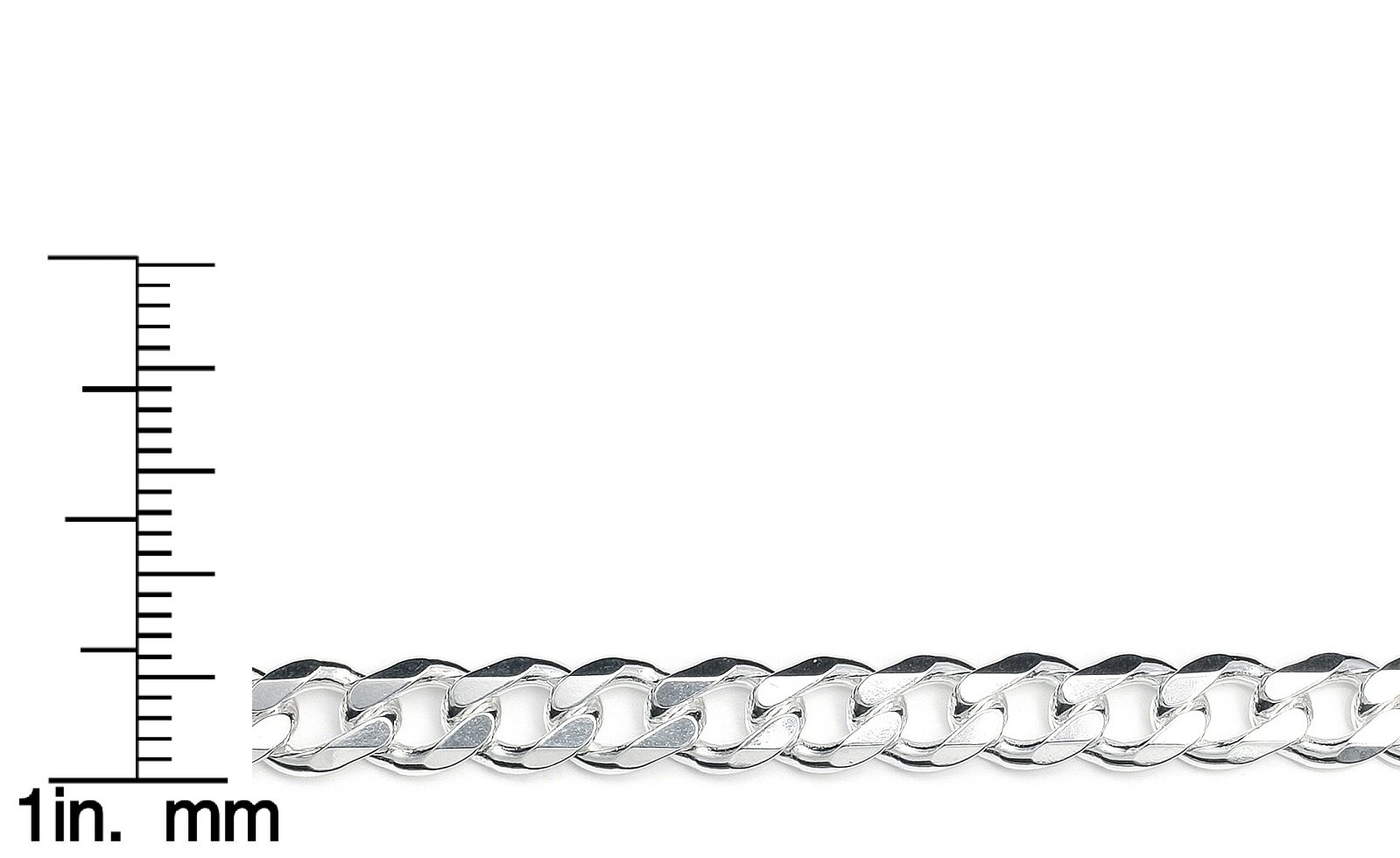 2.8mm Made in Italy 12mm Pori Jewelers Solid 925 Sterling Silver Cuban Chain Necklace