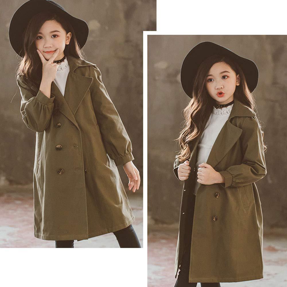 LSERVER Kids Boys Trench Coat Toddler Girls Windbreaker Autumn Spring Jacket Children Outwear British Coats Camel 2-6T