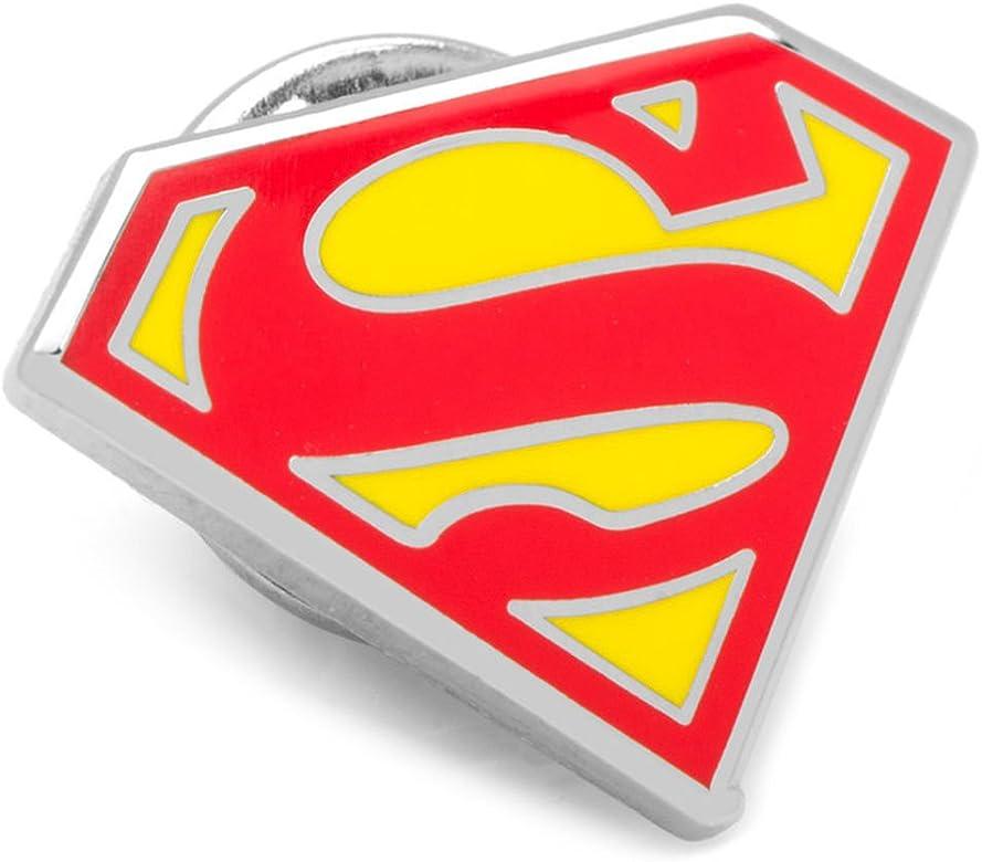 Gemelos Inc Esmalte Superman Escudo Pin de solapa (rojo): Amazon ...