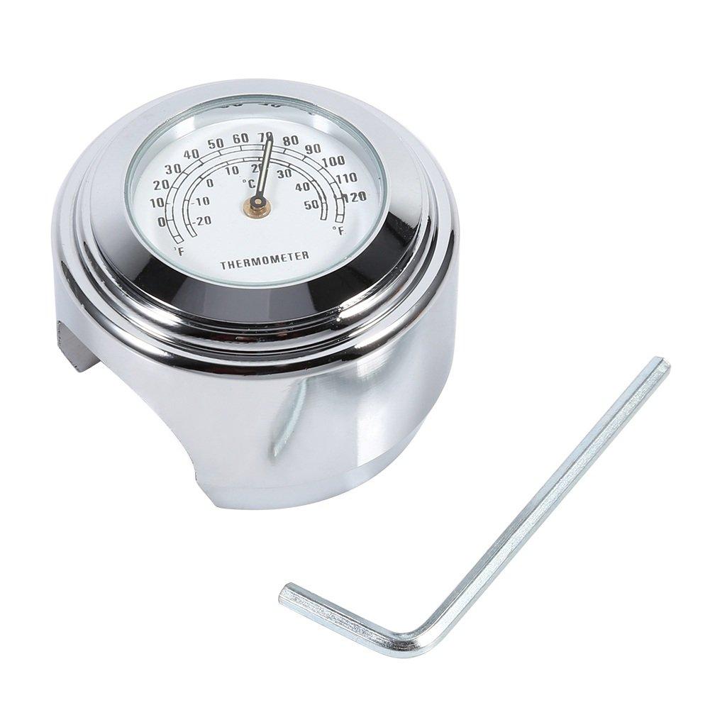 Motorcycle Handlebar Thermometer,7//8 Waterproof Temp Dial Gauge