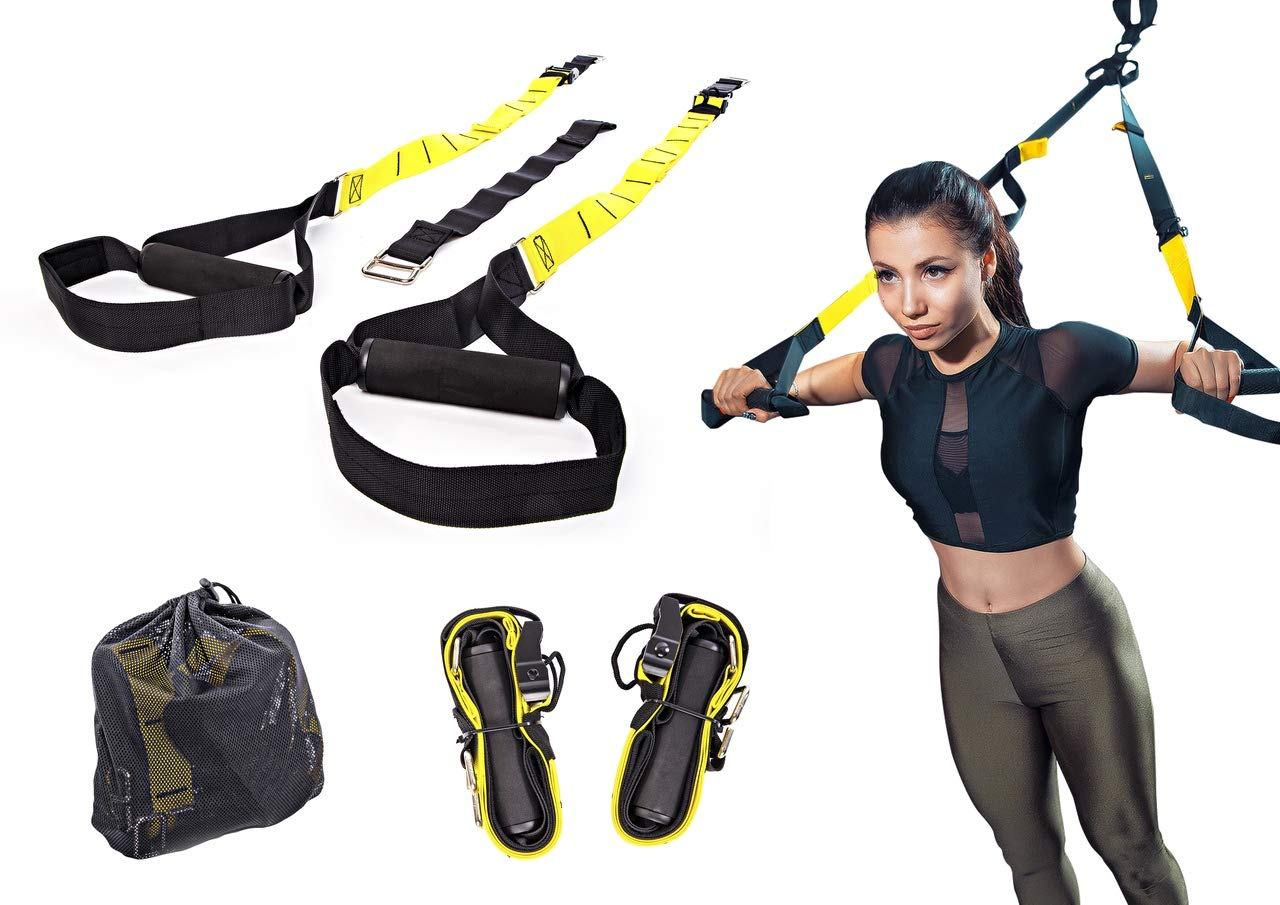 Active Athletic Basics Suspension Trainer Resistance Straps Kit - Full Body Workout Straps with Travel Bag & Exercise Guide by Active Athletic Basics