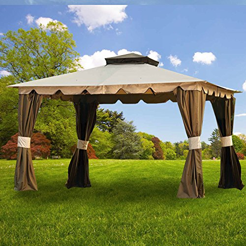 Garden Winds Replacement Canopy for the Hampton-II 10' x 12' Gazebo - 350