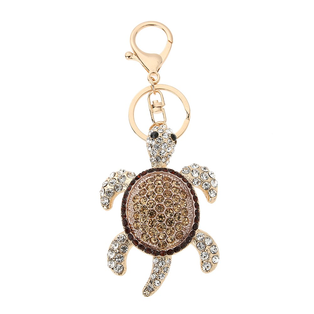 Popular Diamond Color Turtle Backpack Pendant Key Car Pendant Ring Colorful Exquisite for Girls Accessories and Ladies Purse Charm Decoration Diamondo