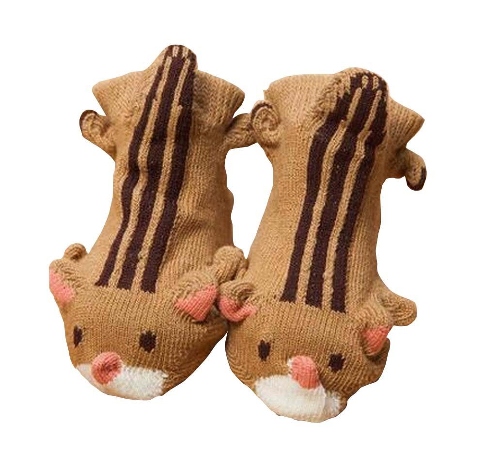 Orange Hedgehog Cartoon Baby Socks for 1-12 Months Baby A Pair East Majik