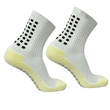 WINOMO Calcetines antideslizantes de fútbol para hombres Calcetines cortos de fútbol (blanco): Amazon.es: Deportes y aire libre