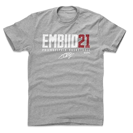 500 LEVEL Joel Embiid Cotton Shirt Small Heather Gray - Vintage  Philadelphia Basketball Men s Apparel - 5b809003a