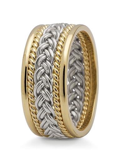 1 Paar Gold 585 Trauringe Eheringe Hochzeitsringe Mit Muster