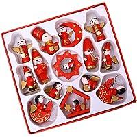BESPORTBLE Petite Treasures Ornamenten Houten Xmas Beeldjes Engelvormige Kerstboom Decoratie Kerst Opknoping Versiering…