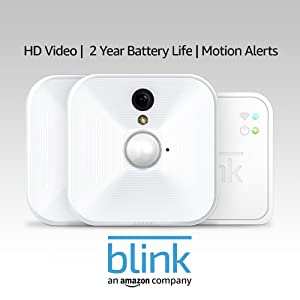 Blink Indoor Home Security Camera System with Motion Detection, HD Video, 2-Year Battery Life and Cloud Storage Included - 2 Camera Kit