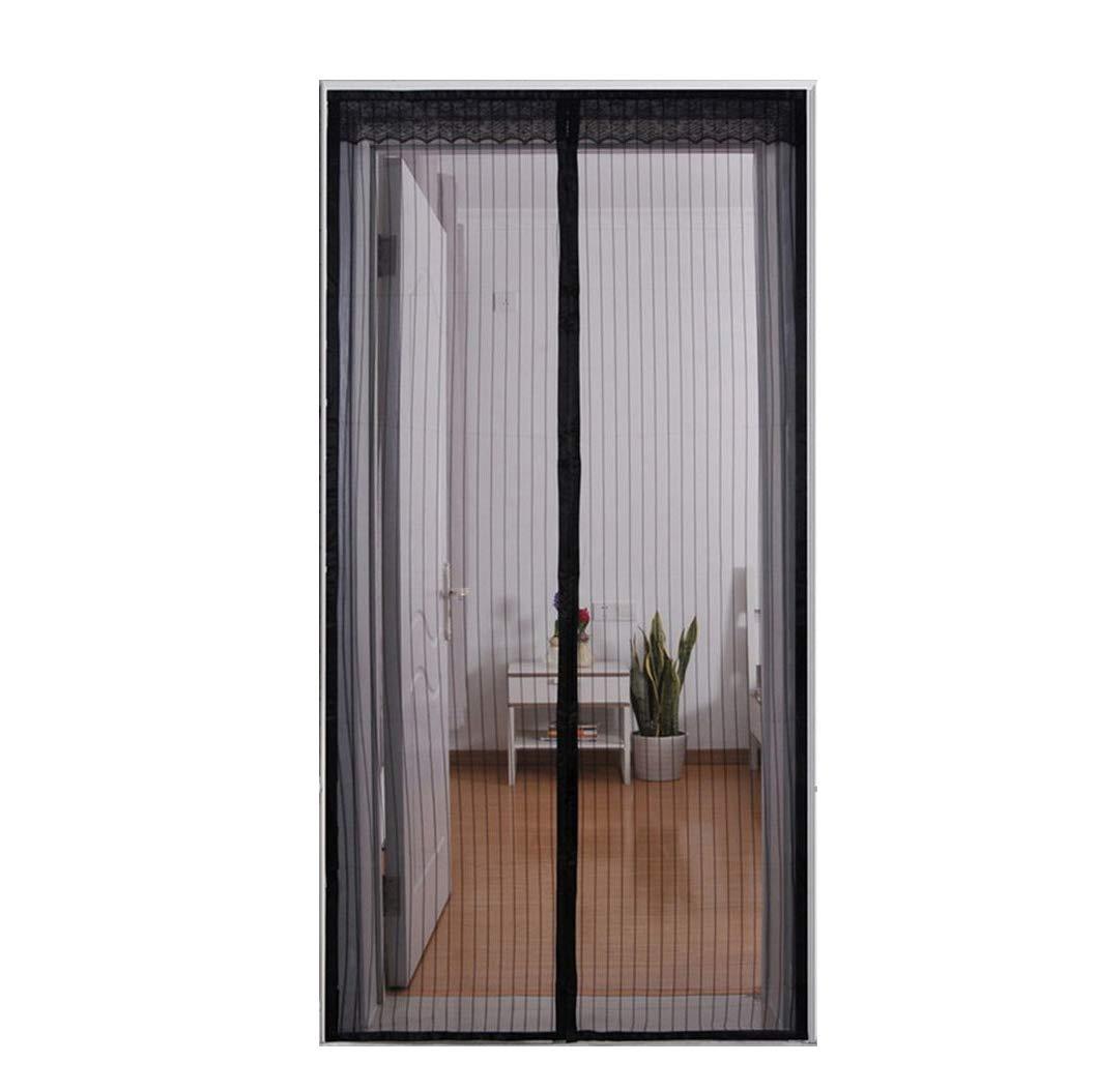 Em Home Cortina Mosquitera para Puertas con Cierre Magné tico en movimiento 90x210cm (Blanco)