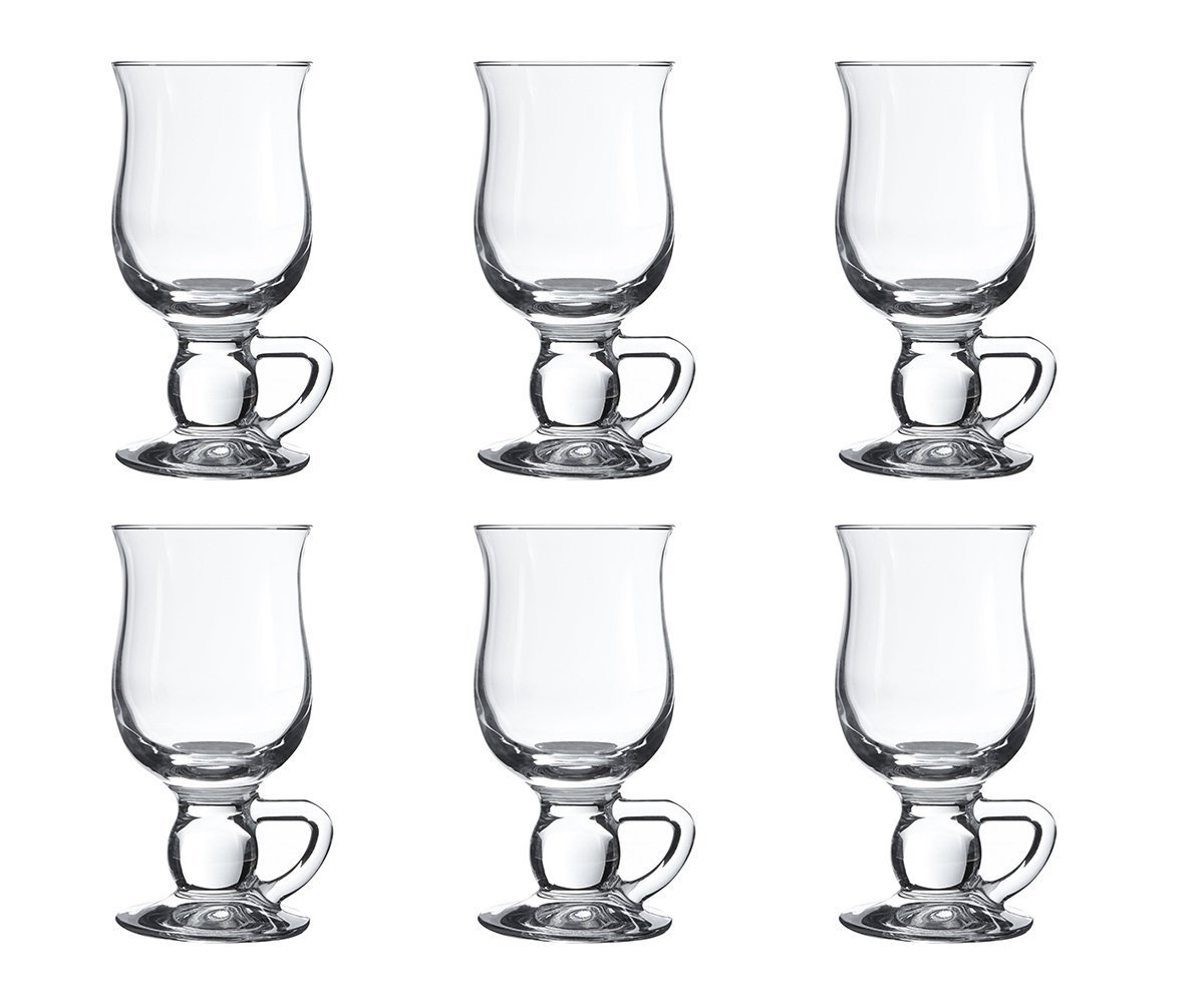 Pasabahce 44159Cups for Irish Coffee Punch Mulled Wine Hot Chocolate, Set of 6