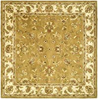 Safavieh Heritage Collection HG816A Handcrafted Traditional Oriental Mocha and Ivory Wool Square Area Rug (8 Square)
