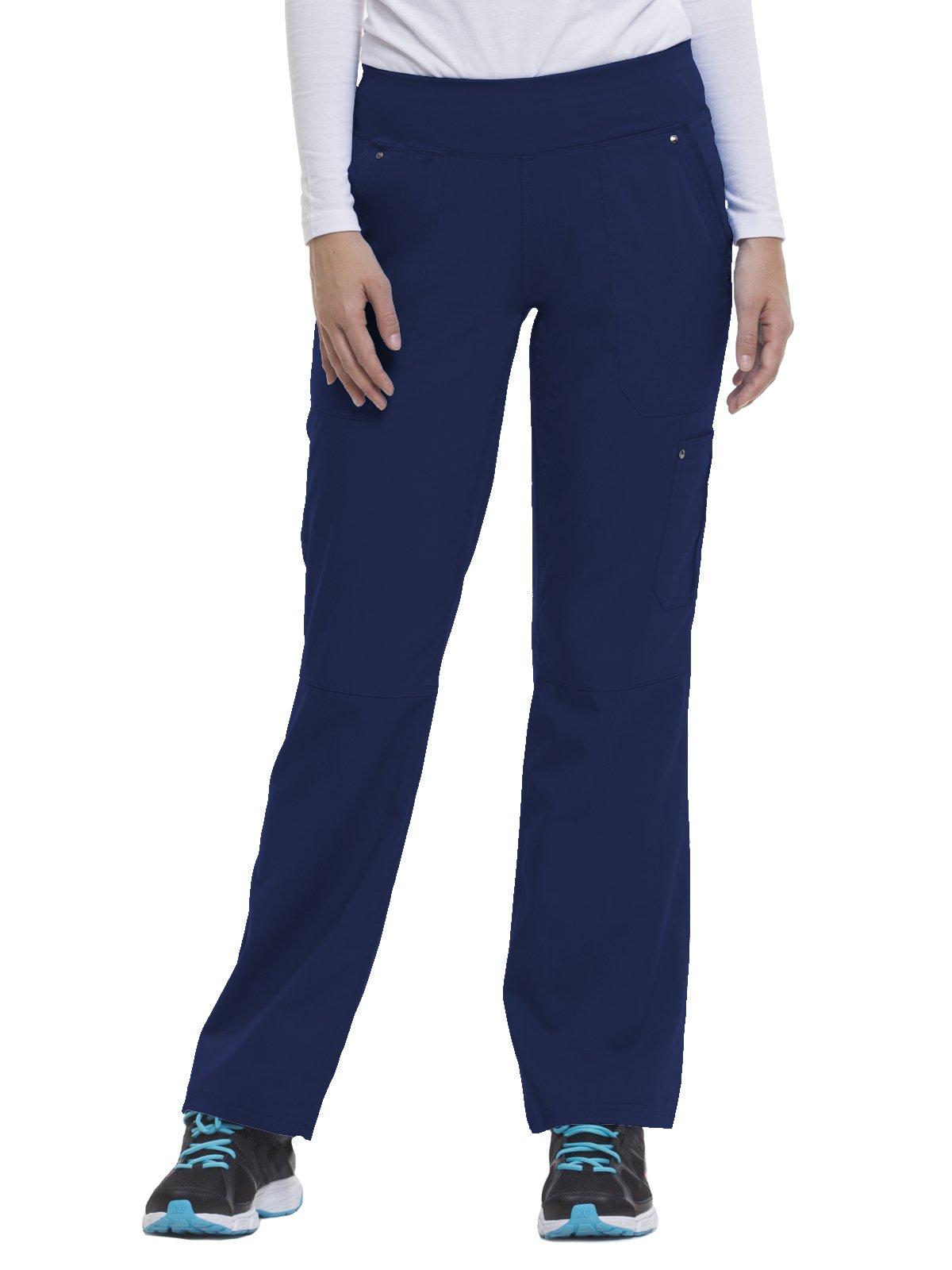 Purple Label by Healing Hands Scrubs Women's''Tori'' 9133 5 Pocket Knit Waist Pant Navy- Large
