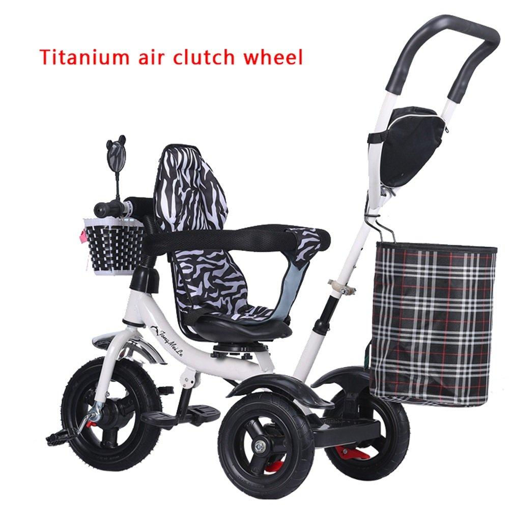 チタンホイールトロリー、ベビーボビーキャビン、バイク、子供用三輪車、子供用自転車 (色 : # 2) B07CZB59XF# 2
