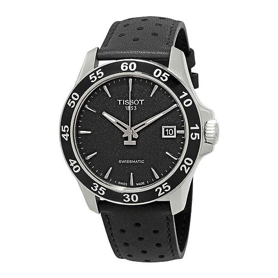 Tissot Reloj Analógico para Hombre de Automático con Correa en Cuero T008.217.16.111.00: Amazon.es: Relojes