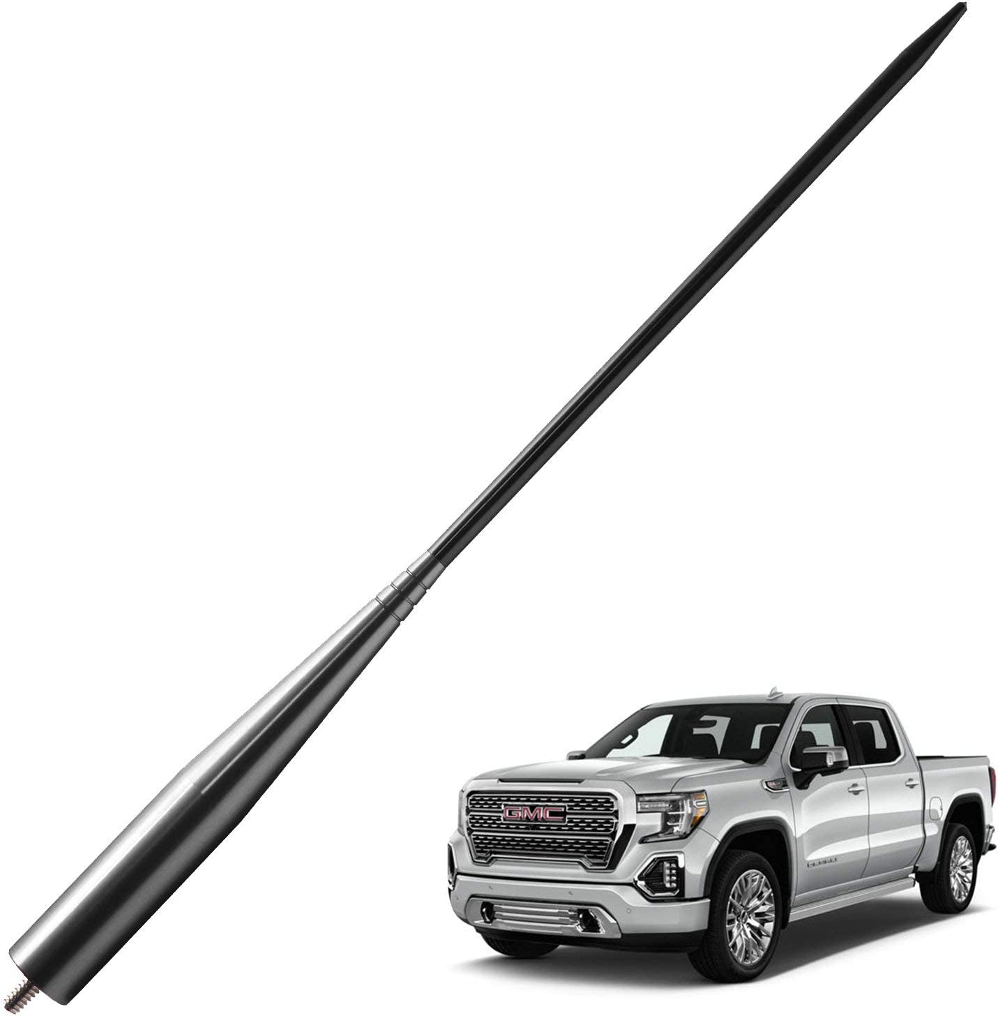 13 inches-Titanium Black JAPower Replacement Antenna Compatible with Nissan Frontier 1998-2019