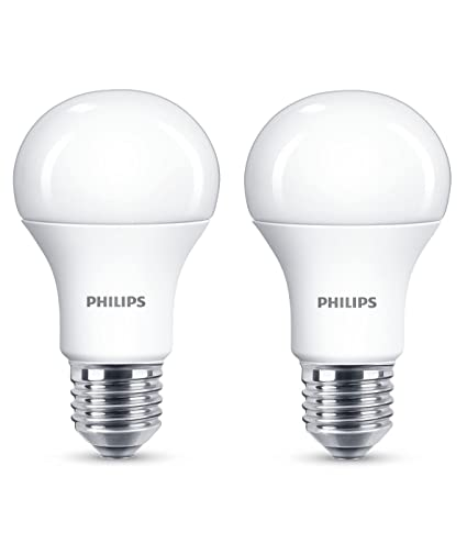 Philips Led E27 Edison Screw Light Bulb Frosted 13 W 100 W Warm White Pack Of 2