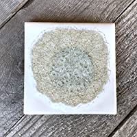 Geode Crackle Coaster in WHITE: Individual Coaster, Geode Coaster, Agate Coaster, Fused Glass Coaster, Crackle Glass Coaster, Dock 6 Pottery Coaster, Dock 6 Pottery, Kerry Brooks Pottery