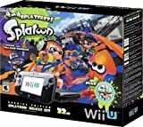 Nintendo Wii U 32GB Console Splatoon Special Edition Bundle - Black
