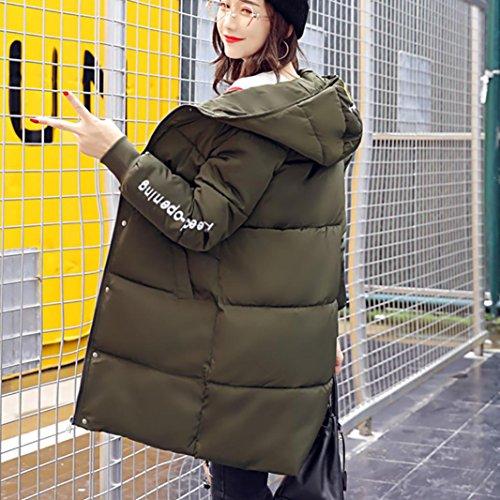 Invierno Mujer By Plumas Grande Ropa Abrigo Capucha Con qw6Tw0E