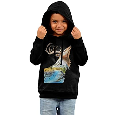 New Design Kid's Hooded Sweatshirts Soft Art Painting Deer Cotton Hoodies Pullover For Child