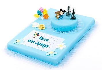 Torten Deko Set Mickey Mouse Baby Babyparty Hurra Ein Junge 10