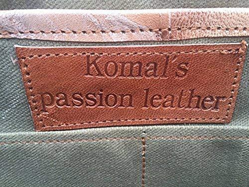 KPL 14 Inch Leather Purse Women Shoulder Bag Crossbody Satchel Ladies Tote Travel Purse Genuine Leather (Tan Brown)